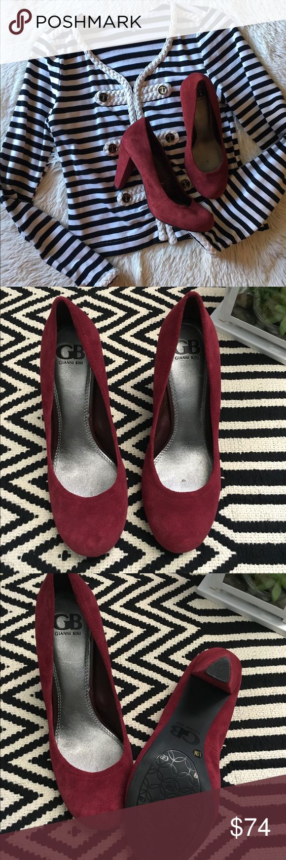Gianni Bini burgundy suede pumps Like new condition. Gianni Bini burgundy suede pumps. Size 8.5M Gianni Bini Shoes Heels