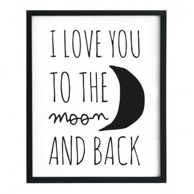 affiche i love you to the moon and back des mots dans la d co pinterest rondin affiches. Black Bedroom Furniture Sets. Home Design Ideas