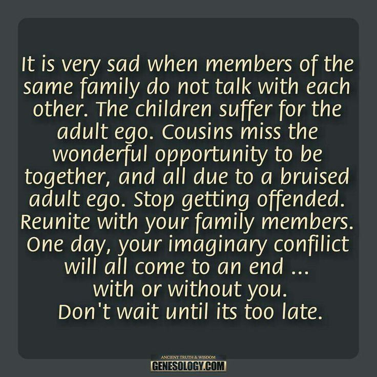 Very sad... life is too short and family is too important. Praying someday my husband's family can reconcile.