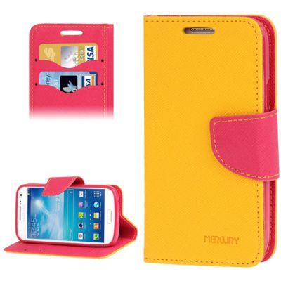 Mercury Case Θήκη Πορτοφόλι Κίτρινο (Samsung Galaxy S5 mini) - myThiki.gr - Θήκες Κινητών-Αξεσουάρ για Smartphones και Tablets - Χρώμα Κίτρινο με Ροζ Δέστρα