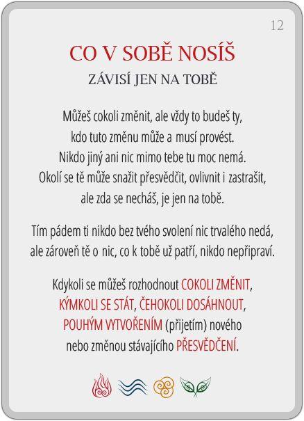 Portál pro osobní rozvoj změnou podvědomí a vlastní přitažlivosti: Člověče, poznej se — 12/24: Co v sobě nosíš