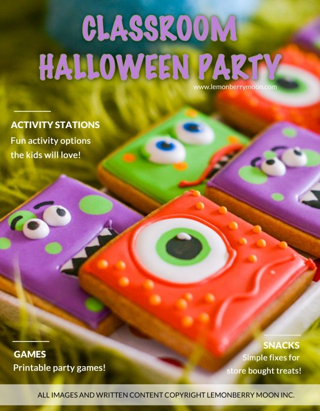 Halloween Classroom Party Plan for Pre K through Second grade - Printable games included! - Great teacher gift she can use every year!