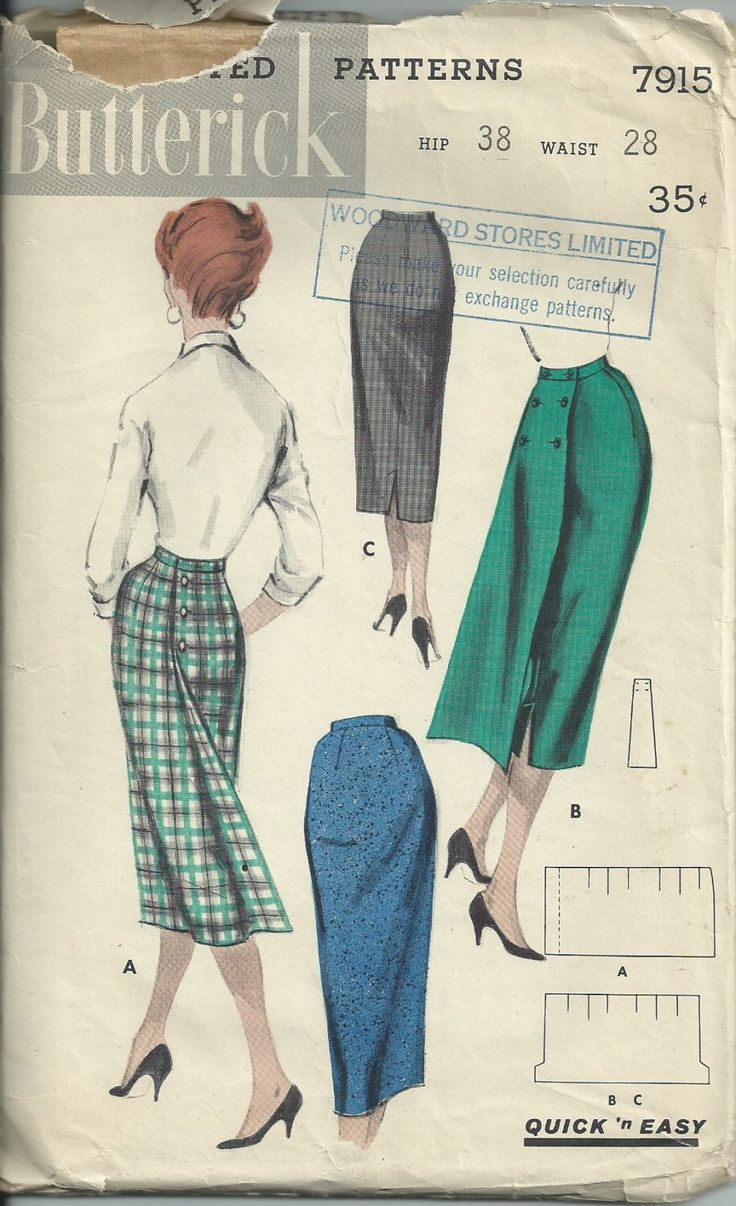 modello gonna anni 50 / / vintage 7915 cartamodelli gonna modello vita 28 anca 38 di RebekaVintage su Etsy https://www.etsy.com/it/listing/229483826/modello-gonna-anni-50-vintage-7915