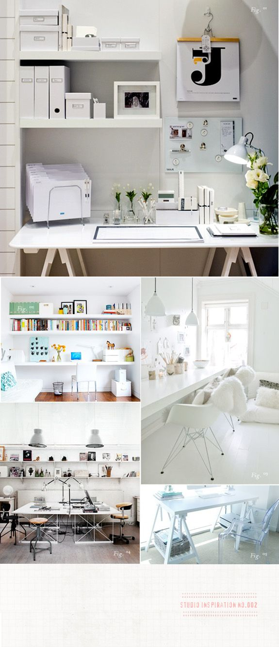 white office spaces. Love.
