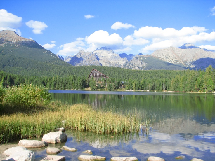 my photo of Štrbské pleso - mountain lake in High Tatras, Slovakia