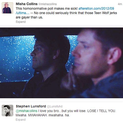 No one ships Destiel more than Misha Collins himself XD love you Misha!