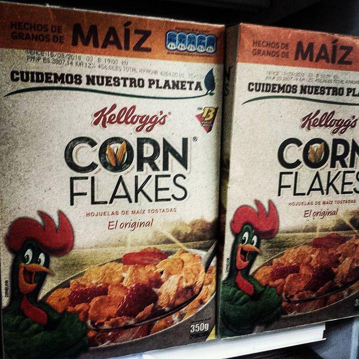 """muy """"vintage"""" los Corn Flakes acá en Venezuela"""