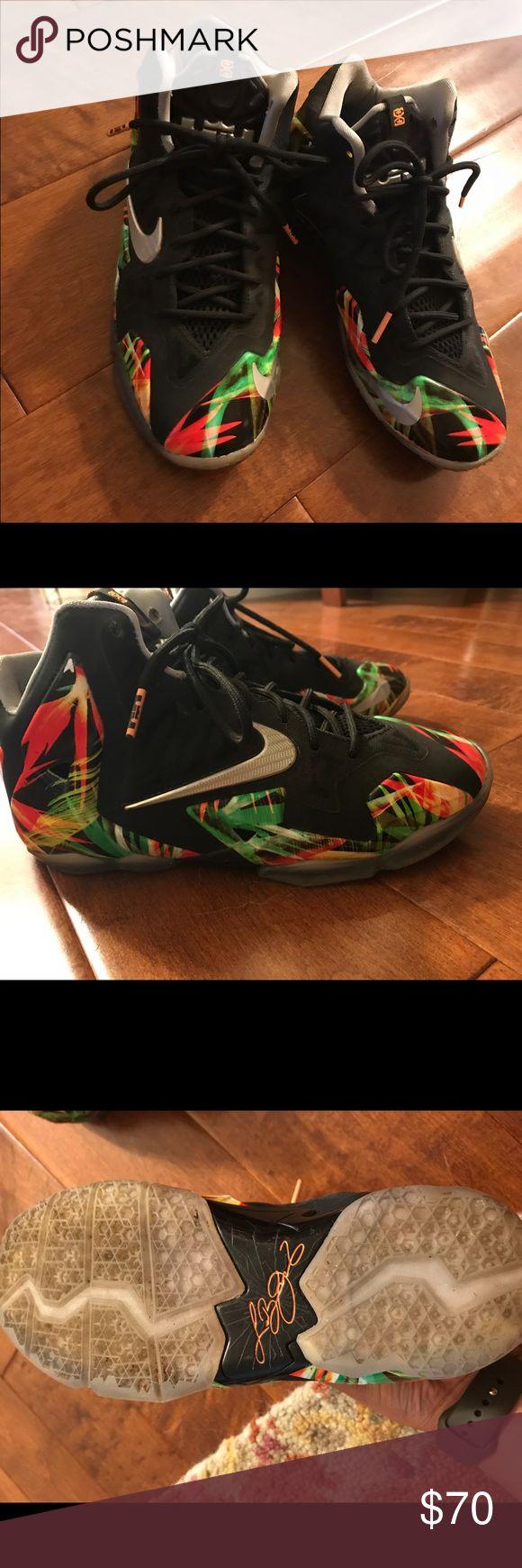 """Nike Lebron 11, """"Everglades"""" Size 5 Youth/ lightly used Nike Shoes Athletic Shoes"""