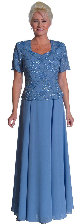 Short sleeved mother of the bride or groom dress