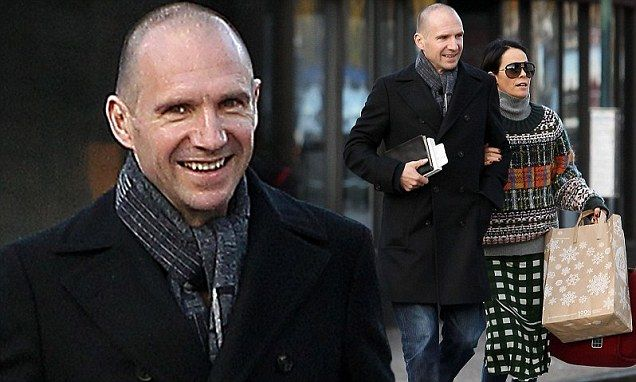 Ralph Fiennes walks arm-in-arm with socialite lover Amanda Harlech