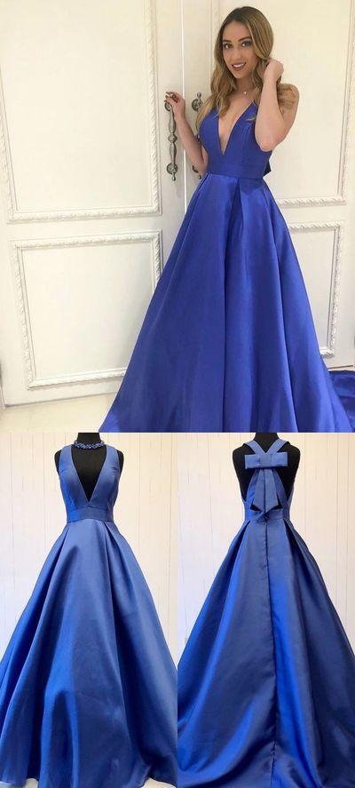 elegant prom dresses, 2018 long prom dresses, royal blue prom dresses, 2018 royal blue long prom dress,390