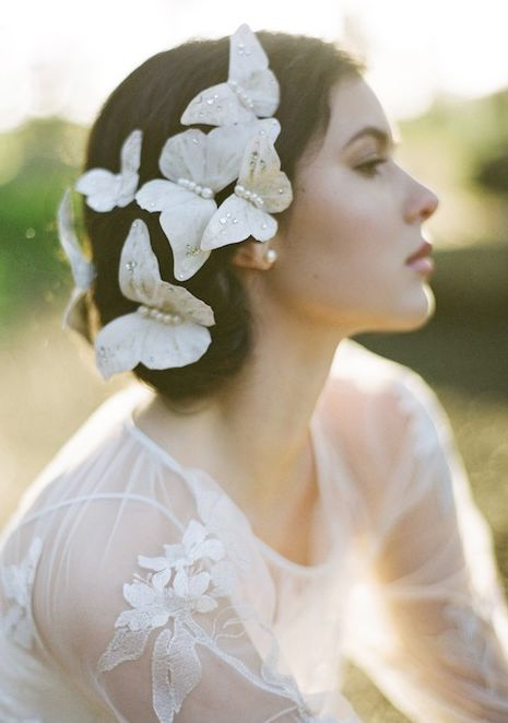 Butterfly Bridal Hairpins Set of 3 Style 1896