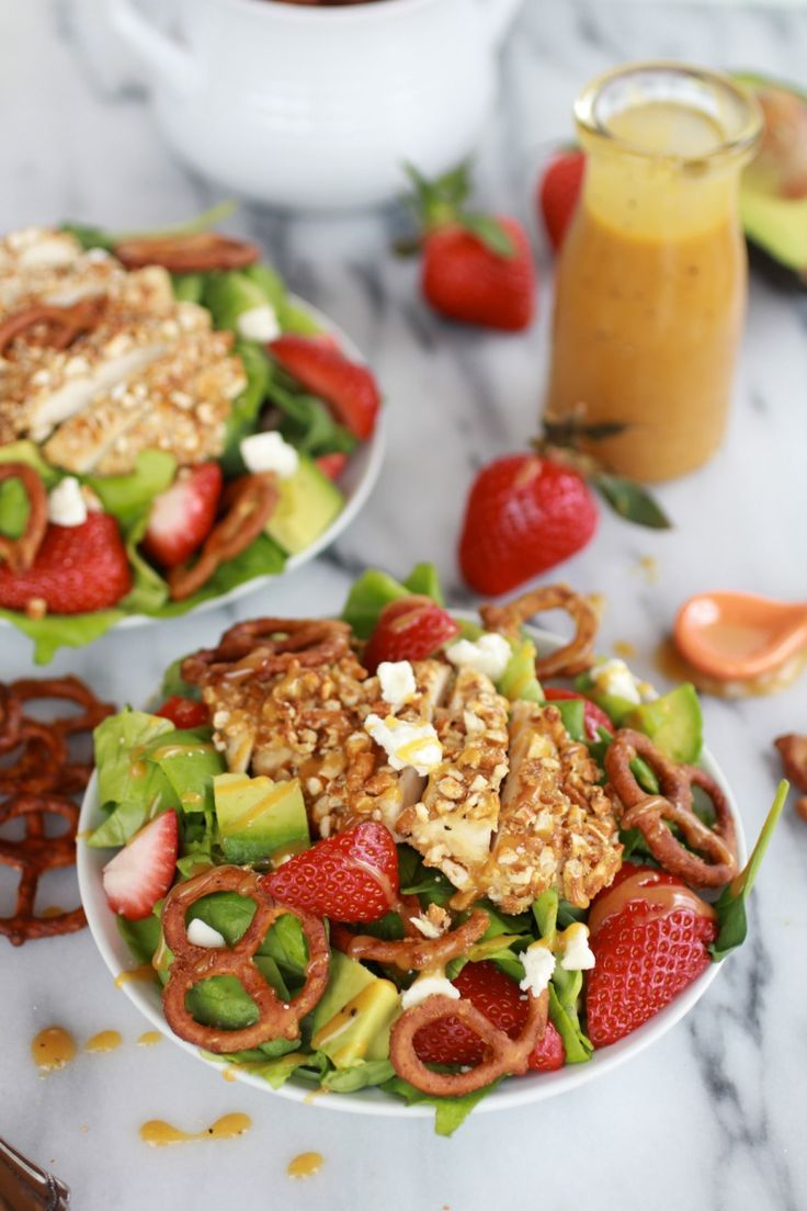 Crusted Chicken Salad with Spicy Honey Mustard Dressing