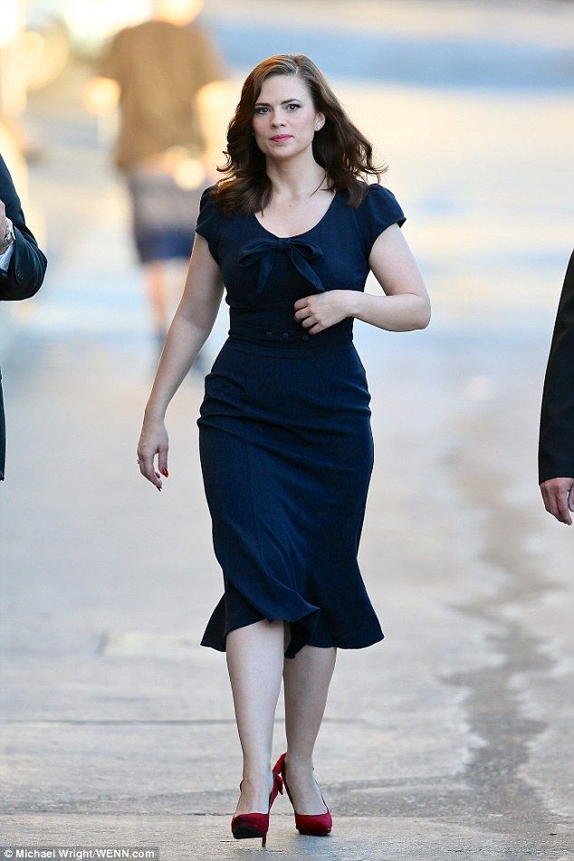 On the go: Atwell is currently starring as Agent Peggy Carter in several projects by Marve...