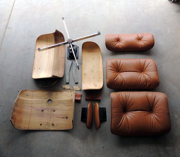 Selig Eames Lounge Knock-Off Rehab - step by step - by Plastolux : We have two of these at home that could use a bit of rehab.