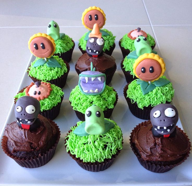 A friend of ours was celebrating his 7th birthday with a zombie party this year and I was asked by his Mum to make some Plants vs Zombies...
