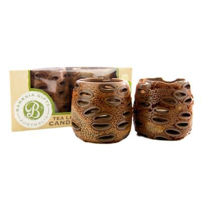 Australian Made Gifts & Souvenirs with the Banksia Tea Light Holders -by Banksia Gifts. For the best Australian online shopping for a Homewares - 1