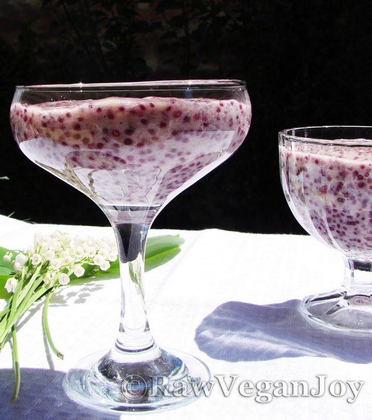 Raw Vegan Joy – Budinca de chia cu afine