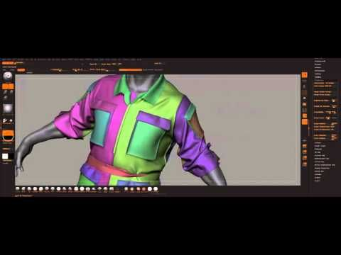 Marvelous Designer to Zbrush mini tutorial - YouTube