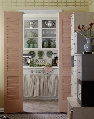 FRENCH COUNTRY COTTAGE: Vintage Cottage Kitchen ~ Inspirations...love the pink shutters: Shutters Doors, Cottages Kitchens, French Country Cottages, Kitchens Inspiration, Vintage Cottages, Cottage Kitchens, Kitchens Idea, Dream Kitchens, Cottage Country Farmhouse