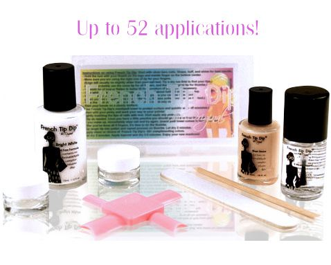French Tip Dip's instant French manicure & pedicure tool works with nail polish, formulas, & colors of choice. Even use gel or glitter! Easy cleanup with nail polish remover.