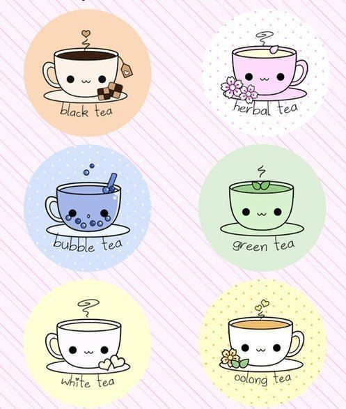 different types of cute tea :')