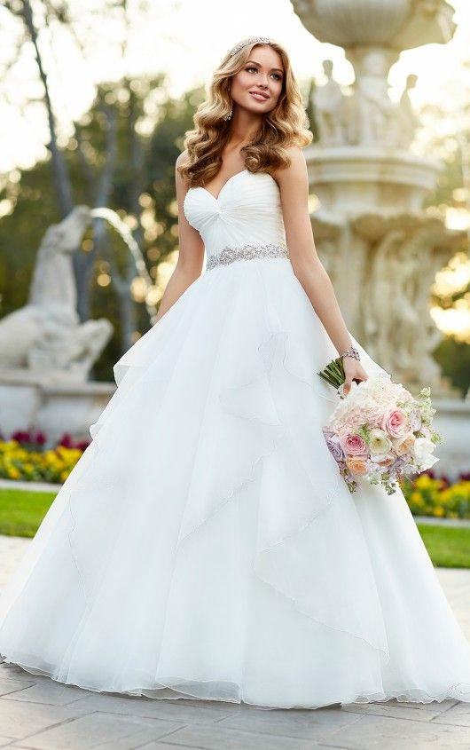 Strapless Organza Ball Gown Wedding Dress Princess Dresses Pinterest And Bridal Gowns