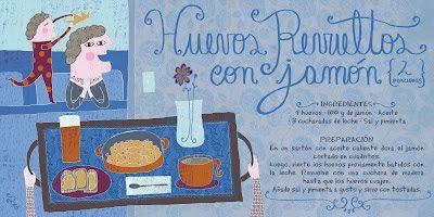 Cositas Ricas Ilustradas por Pati Aguilera: Huevos revueltos con jamón