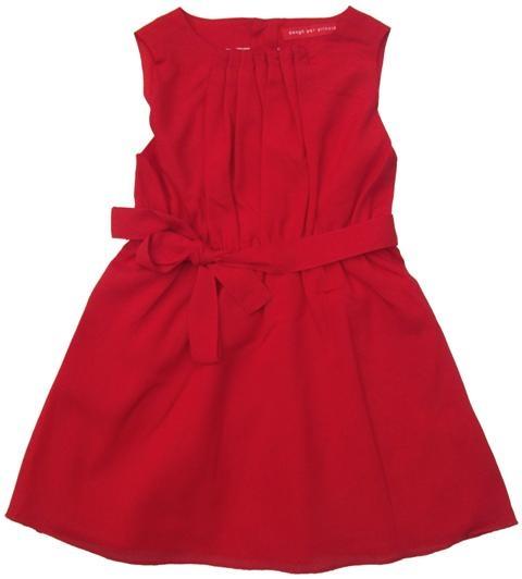 Bengh per Principesse - rode jurk - Rode jurk in een lichte stof. Ideaal voor warmere dagen en voor feestjes. Extra hoogblauw lint bijgeleverd. Katoenen onderjurk. 100% polyester.