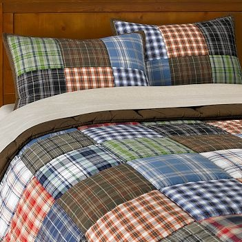 Love the plaid for a boy's room