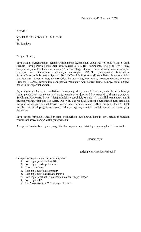 Contoh Cover Letter Lamaran Kerja Fresh Graduate Contoh
