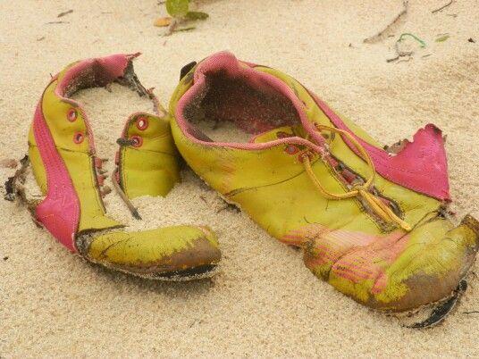 Worn out shoes. #forgotten #beach Mozambique Africa.