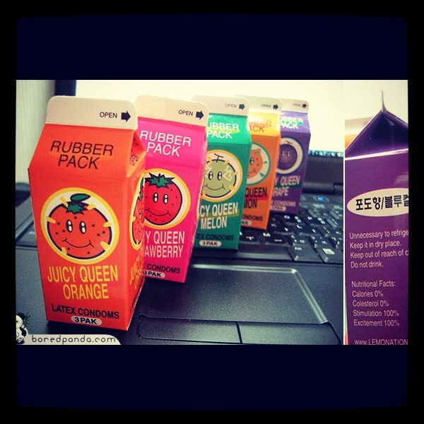Flavoured condoms