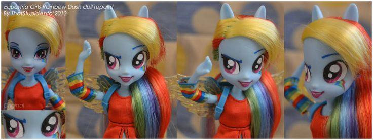 EQUESTRIA GIRLS Rainbow Dash doll repaint by ThatStupidAnto.deviantart.com on @deviantART