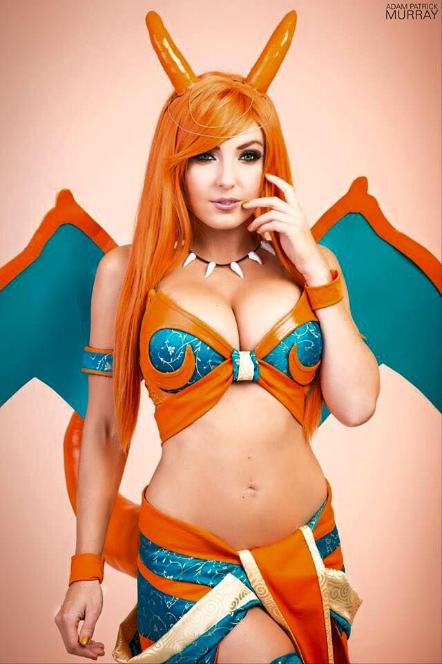 Anime Cosplay Porn Caption - Charizard-Cosplay-Jessica-Nigri-Pokémon-03.jpg (640×