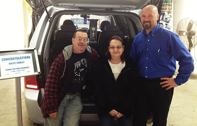 MobilityWorks of Farmingdale, NJ helped Sue Volpe who had her wheelchair and vehicle stolen..