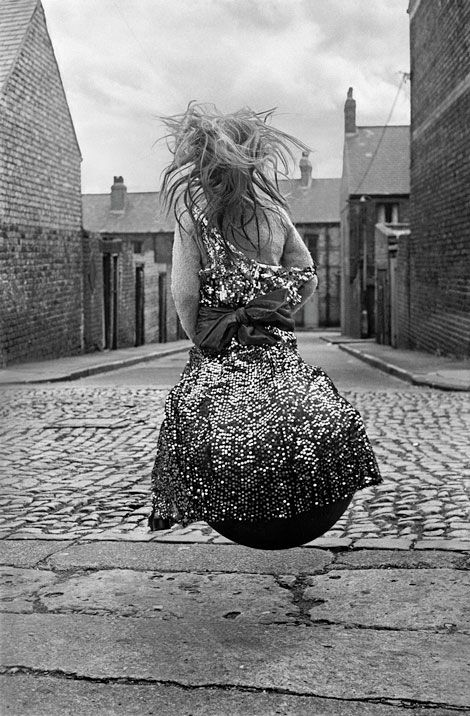 """Girl on Spacehopper"" 