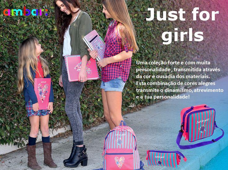 Mostra a tua personalidade com a Linha Just For Girls da ambar: #ambarideiasnopapel #regressoasaulas #mochilas #a: