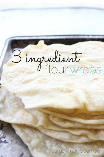 3 Ingredient Flour Wraps