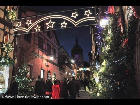 Marché de Noël in Riquewihr - Alsace, France   ... a Sunday evening at the Christmas market in Riquewihr, one of the most story-book and magical towns in the border region that combines elements of France and Germany.