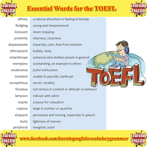 Essential Words for the TOEFL part 2