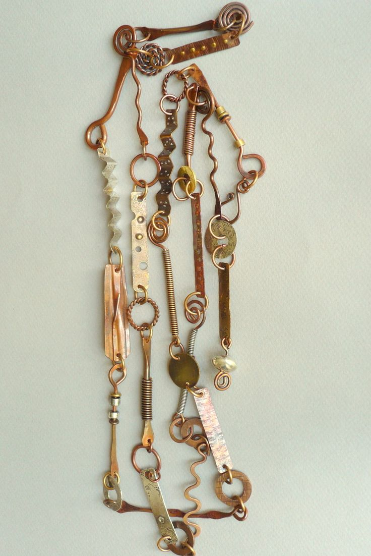 "Contemporary Jewelry - ""Mixed Metal Linked Necklace"" (Original Art from Shannon White Designs)"