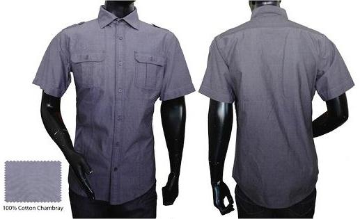 Crisp, clean blue chambray shirt