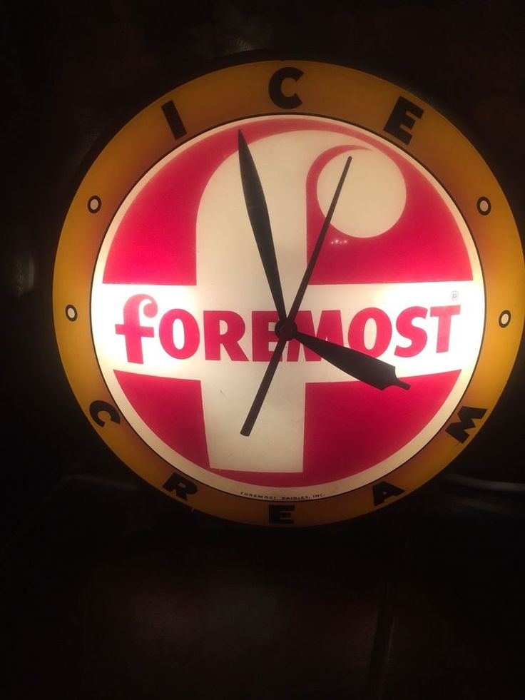 Vintage Rare Double Bubble Foremost Ice Cream Clock,1950