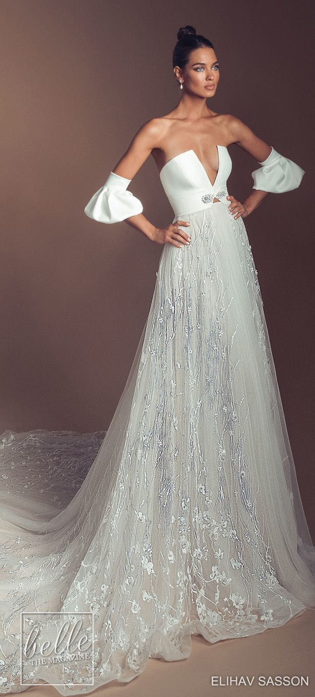 5218ae4286aa Elihav Sasson Wedding Dresses 2019 - Enamoured Collection | Unique A-line wedding  dress with
