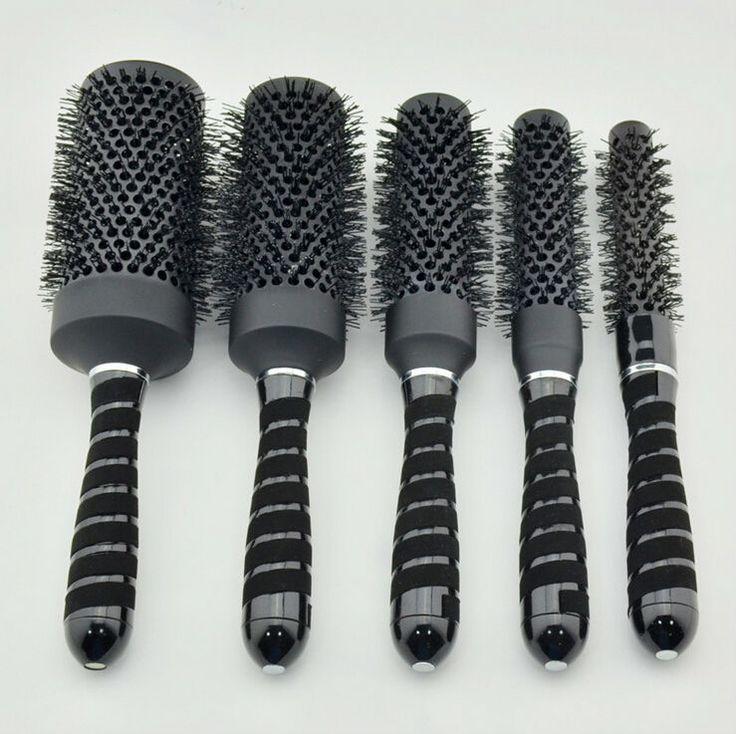 Nano Ceramic Hair Brush Ionic Round Hair Brush Professional Salon Hair Brush GIC-HB515B Color Changing Free Shipping