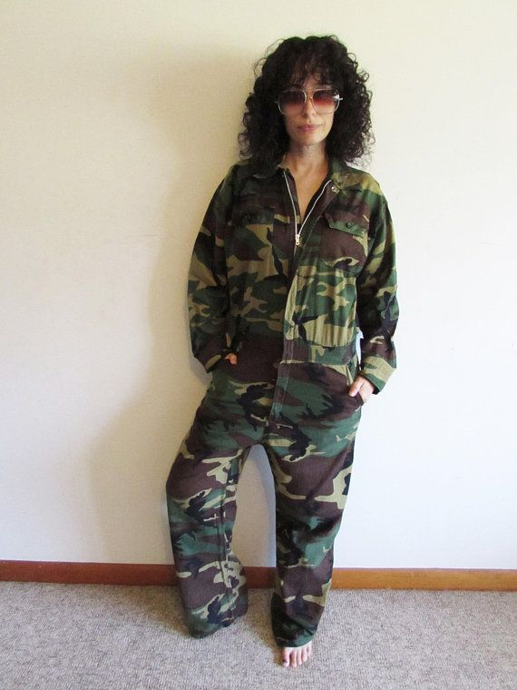 e4752f929dc15 Vintage Camo Jumpsuit Camouflage Jumpsuit Hunting Outfit Camo Coveralls One  Piece