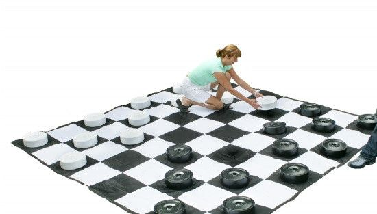 """Extra pieces for our Giant Checkers Game Set. Game pieces are 10"""" in diameter by 3 1/4"""" tall, made from thick polyurethane plastic. Make sure you select your colors from the drop-down menu. FREE SHIPP"""