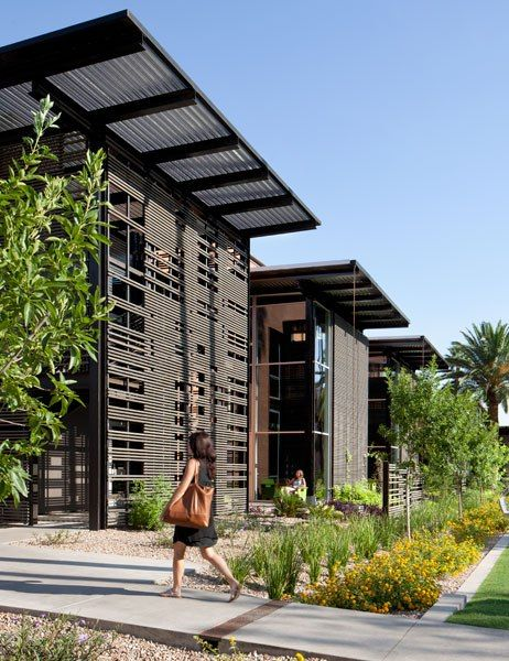 The Arizona State University Student Health Services building designed by Texas-based AD100 firm Lake | Flato Architects