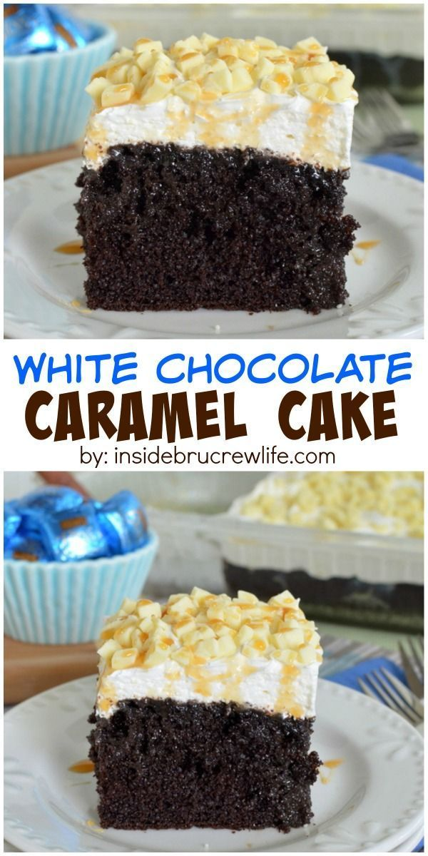 Chocolate caramel candy cake recipe